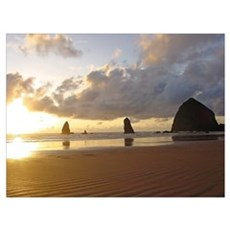Cannon Beach, Oregon Sunset Poster