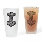 Thor's Hammer Drinking Glass