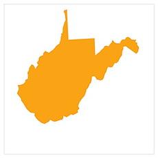 Orange West Virginia Poster