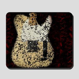 Vintage Guitar Mosaic Artwork Mousepad