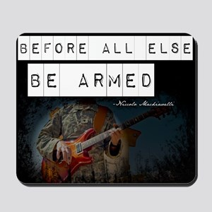 Soldier with Guitar Mousepad