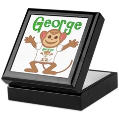 Little Monkey George Keepsake Box