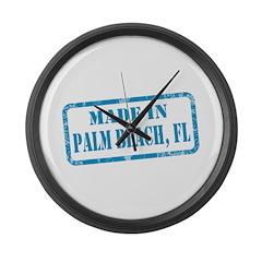 MADE IN PALM BEACH, FL Large Wall Clock