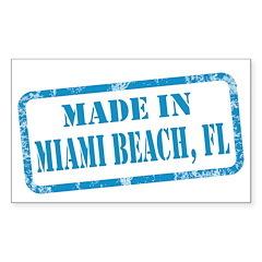 MADE IN MIAMI BEACH, FL Sticker (Rectangle 10 pk)
