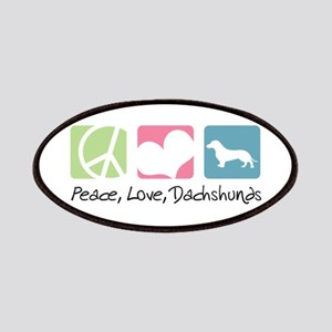 Peace, Love, Dachshunds Patches