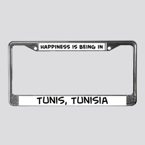 Happiness is Tunis License Plate Frame