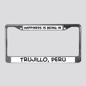 Happiness is Trujillo License Plate Frame