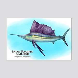 Indo-Pacific Sailfish Mini Poster Print