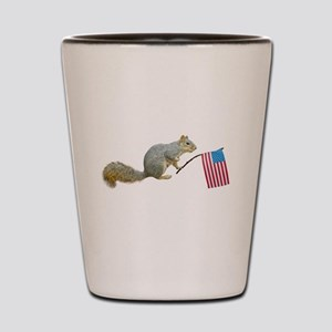 Squirrel with Flag Shot Glass