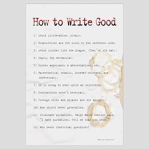 How to Write Good 16x20 , Sloppy Typist