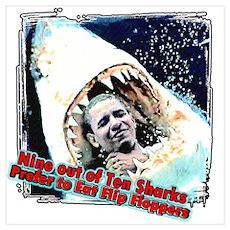 anti obama shark Poster