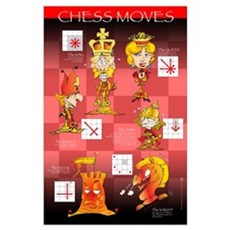 Chess moves cartoon Poster
