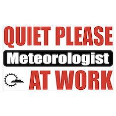Meteorologist Work Poster