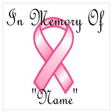 In Memory (pink ribbon) Canvas Art
