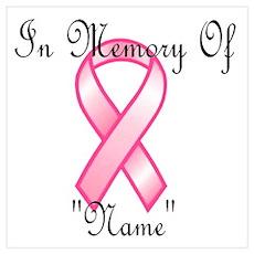 In Memory (pink ribbon) Poster