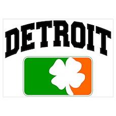 Detroit Shamrock Poster