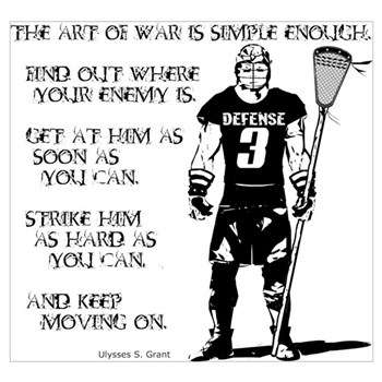 Lacrosse Quotes Best Lacrosse Defense Posters  Cafepress