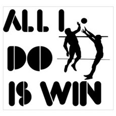 All I do is Win Volleyball Poster