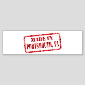 MADE IN PORTSMOUTH, VA Sticker (Bumper)