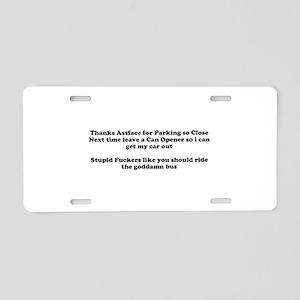 Parking Enforcement Aluminum License Plate