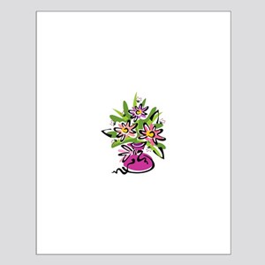 Flowers in a Pink Vase Small Poster