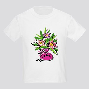 Flowers in a Pink Vase Kids T-Shirt