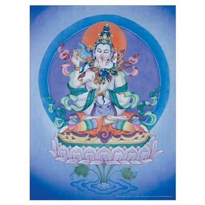 Buddha with Consort Poster