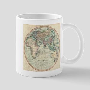 Vintage Map of The Eastern Hemisphere (1801) Mugs