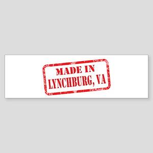 MADE IN LYNCHBURG, VA Sticker (Bumper)