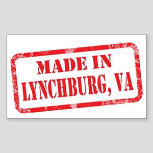 MADE IN LYNCHBURG, VA Sticker (Rectangle)