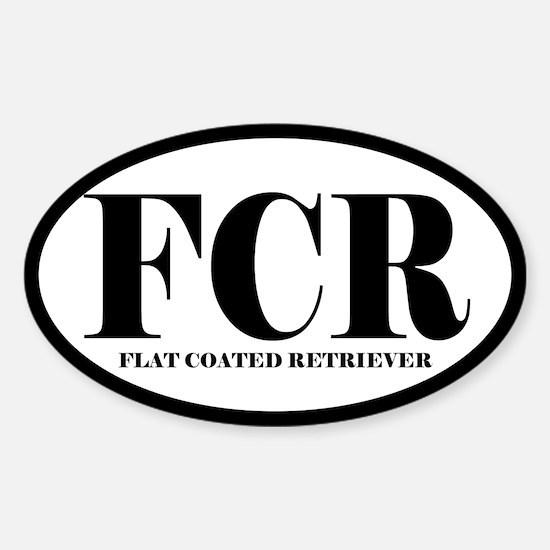 FCR Abbreviation Flat Coated Retriever Decal