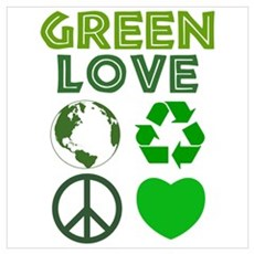 Green Love - Heart 1 Poster