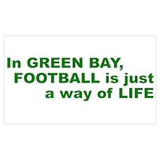 Football Green Bay Poster