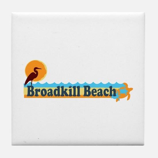 Broadkill Beach DE - Beach Design Tile Coaster