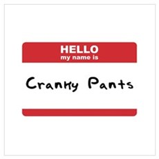 Hello My Name Is Cranky Pants Poster