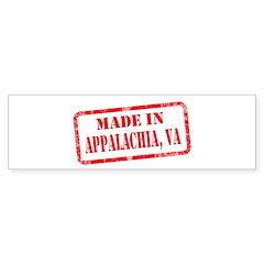 MADE IN APPALACHIA,VA Sticker (Bumper)