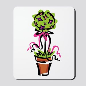 Pink Flower Topiary Mousepad