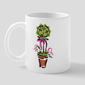 Pink Flower Topiary Mug