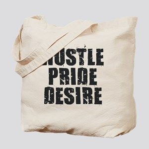 Hustle Pride Desire - Black Tote Bag