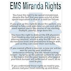 EMS Miranda Rights Poster