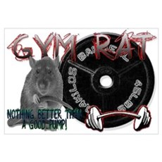 Gym rat Framed Print