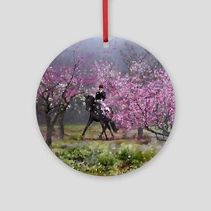 Spring Half Pass Dressage Horse Ornament (Round)
