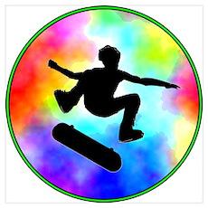 Tie Dye Skater Poster