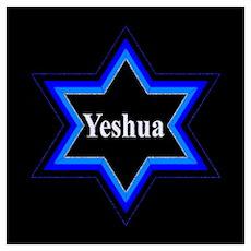 Yeshua Star of David (Blk) Poster