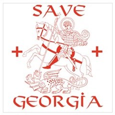 Save Georgia from Russia Poster