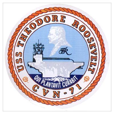 USS Theodore Roosevelt CVN 71 US Navy Ship Large P Poster