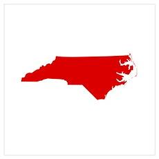 Red North Carolina Poster