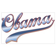 Obama Baseball Style Swoosh Framed Print