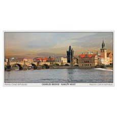 Charles Bridge Panorama Poster