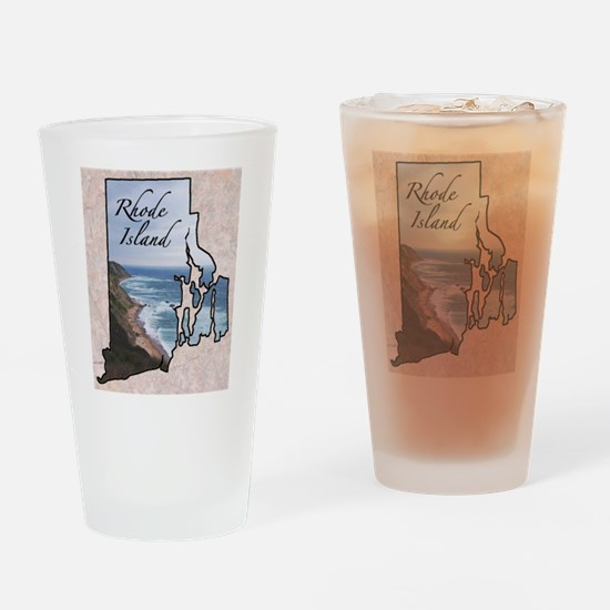 Cute Rhode island Drinking Glass